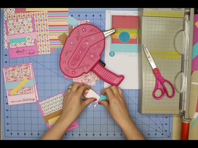 Cardmaking with Doodlebug's Cream & Sugar paper using 6x6 Tutorial