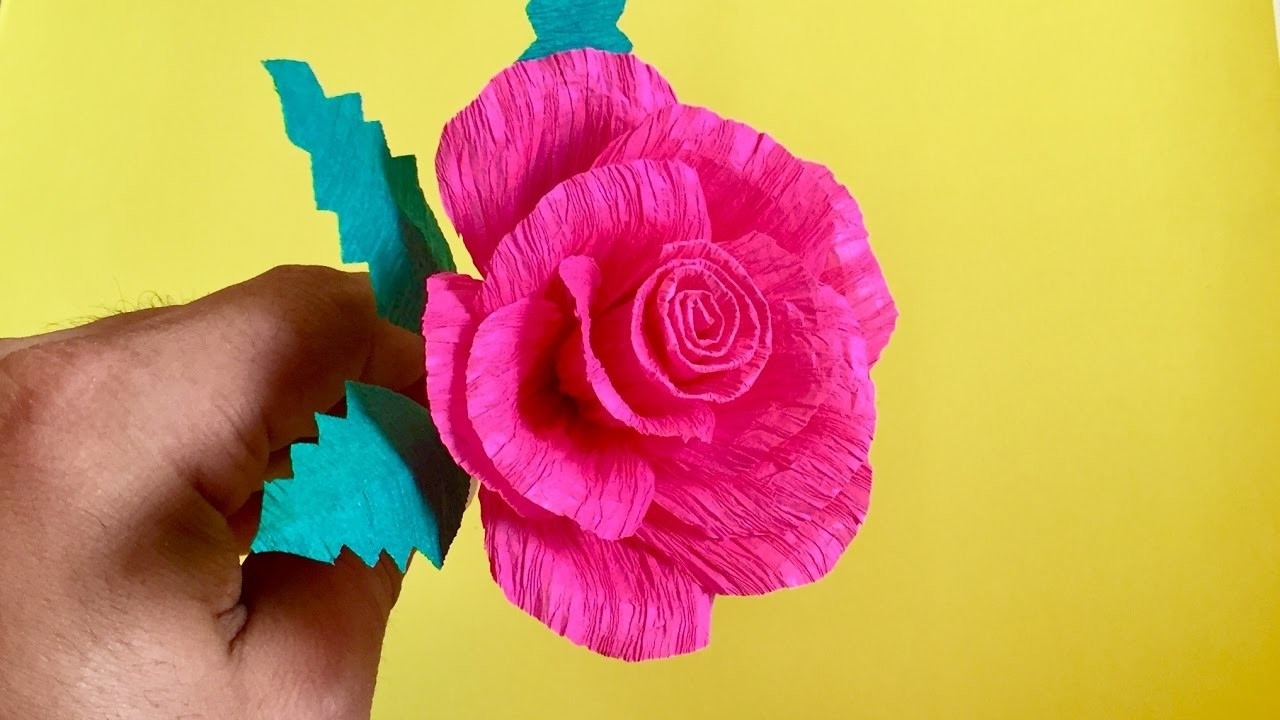 Crepe Paper Rose Flower Arts And Crafts Paper Flowers For Gift