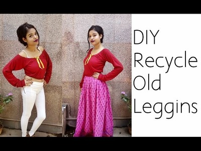 D.I.Y Recycle Old Leggings Into Crop Top