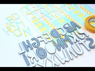 DIY Alphabet Die Cuts from Scratch with Tombow