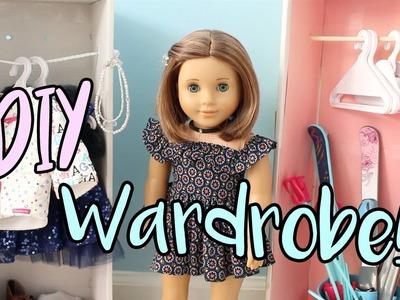 DIY American Girl Doll Wardrobe.Closet (EASY!)
