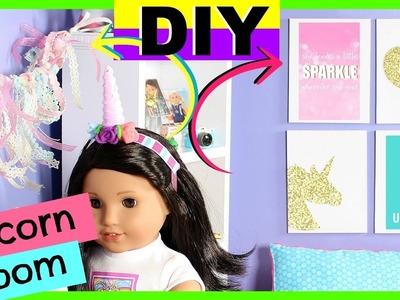DIY American Girl Doll Unicorn Room Decor