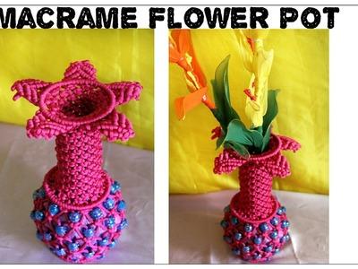 DIY Beautiful Macrame Flower Pot| Easy to make| New design| #3