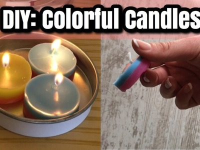 DIY: Colorful Candles! | Super Easy !! | ORDANI DIY