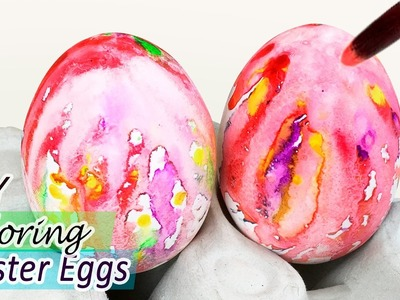 DIY Coloring Easter Eggs | Step by Step Five Colors