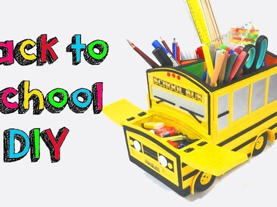 DIY CRAFTS BACK TO SCHOOL FOR CHILDREN - HOMEMADE TOYS