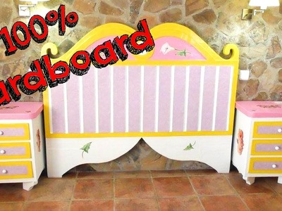 DIY CRAFTS - CARDBOARD FURNITURES - HEADBOARD FOR BED DIY