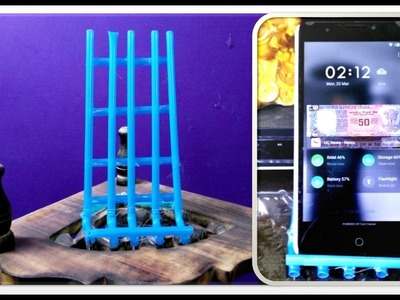 DIY Crafts - Making of Mobile Stand in 5 Minutes Using Drinking straws