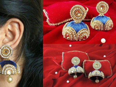 DIY | DESIGNER SILK THREAD EARRINGS | BRIDAL SILK THREAD EARRINGS