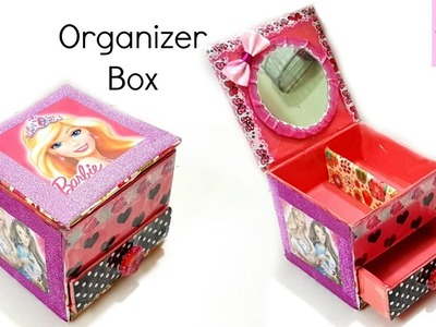 DIY Desk Organizer.DIY Organizer Box.DIY Storage box.Barbie Box
