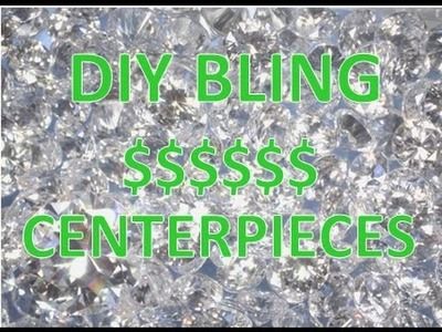 DIY Dollar Tree Bling Rhinestone Wedding Centerpiece Decoration $$$