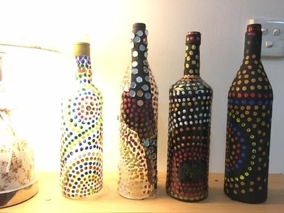 Diy best out of waste plastic bottle show piece my crafts for Decoration with waste bottles