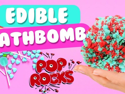 DIY Edible Bath Bomb with Pop Rocks! | 2 Ingredients, Easy, Fun & Without Citric Acid