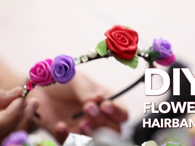 DIY Flower hairband - Do it Yourself || Easy to do crafts || Crafts and Creations
