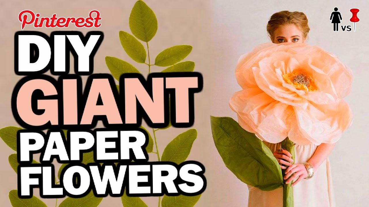 DIY Giant Paper Flowers, Corinne VS Pin #36