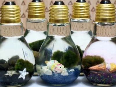 DIY Home Decoration with Old CFL Bulbs