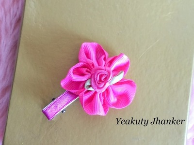 DIY: How to make a ribbon flower.