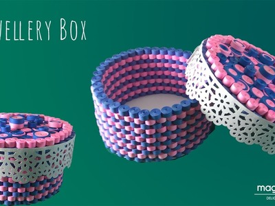 DIY how to make quilled jwellery box.gift box