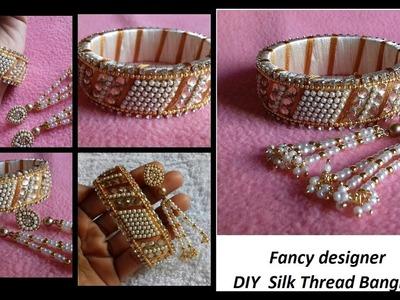DIY || how to make silk thread designer bangles at home || DIY designer silk thread bangles