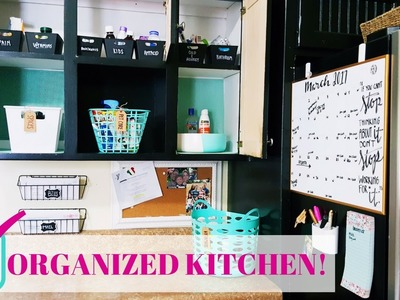 DIY Kitchen Organization On A Budget | FAMILY COMMAND CENTER