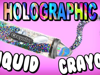 DIY Liquid Holographic Crayola Jumbo Crayon! Giant Holo Rainbow Lava Crayons! School Supplies
