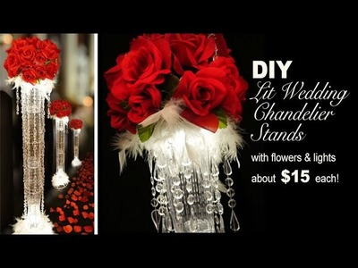 DIY | Lit Wedding Chandelier Stands