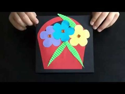 DIY - lovely handmade Mother's Day card (easy crafts with kids)