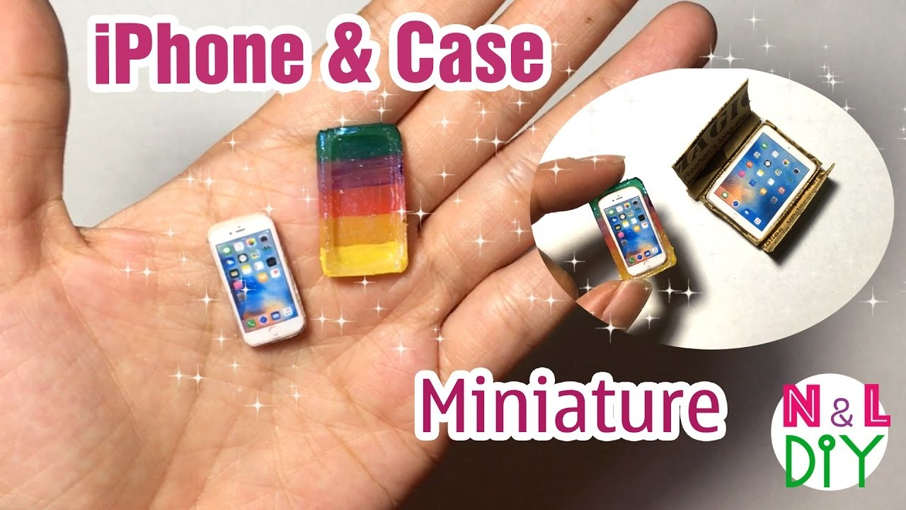 DIY Miniature iPhone & Case Dollhouse | How to make an iPhone & Case for your Doll