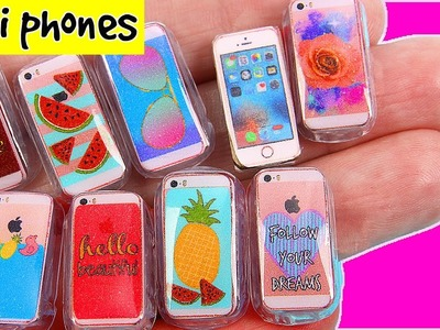 DIY Miniature Phone Cases + iPhone ~ Claire's inspired