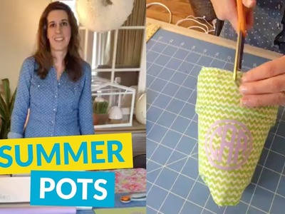 DIY Monogrammed Summer Pots