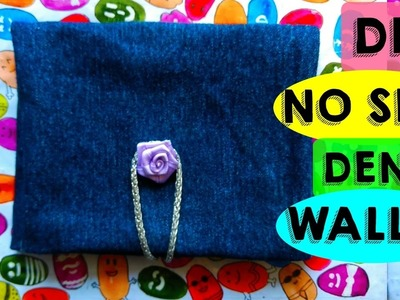 DIY No Sew Denim Wallet - Purse from Old Jeans | MashDIYzone