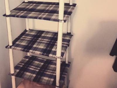 DIY: Organizer shelf for closet from cardboard