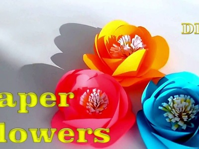 DIY Paper Flowers  Beautiful Flowers for Children  It s simple!