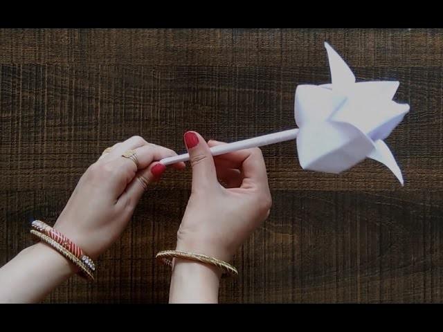 DIY - Paper Lotus Flower | How to make lotus flower