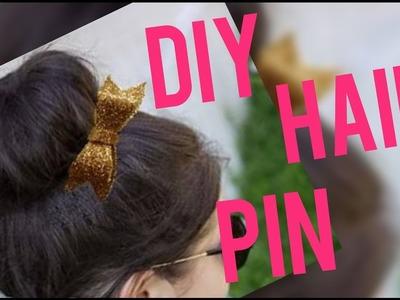 Diy  pom pom , bow & rose hair pin