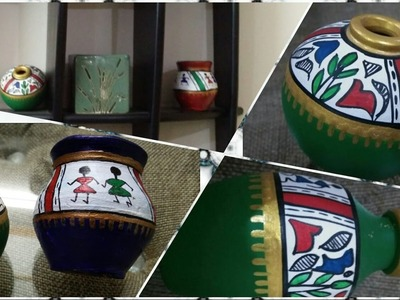DIY- Pot Painting  | warli art | decoration | Enjoy Crafting