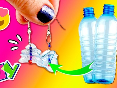 DIY Recycled EARRINGS * Pendientes Caseros RECICLANDO Botellas  ✅  Top Tips & Tricks in 1 minute