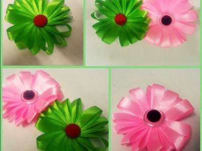 DIY Ribbon Flower. Easy Handmade Ribbon Flower