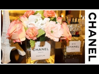 DIY: Room Decor Chanel Inspired | Acrylic Water Floral Arrangement