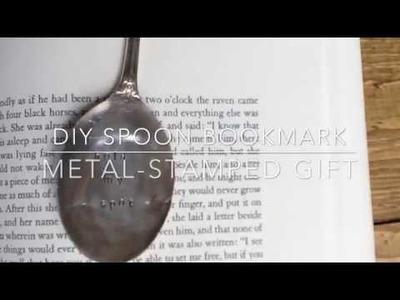 DIY Spoon Bookmark: Metal-Stamped Gifts Series