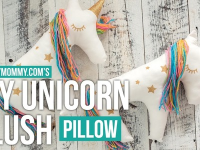 DIY Unicorn Pillow Plush Sewing Tutorial