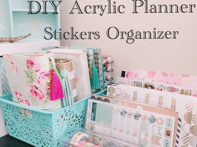Dollar Tree DIY Acrylic Planner Stickers Organizer Plus Bonus Tips $3