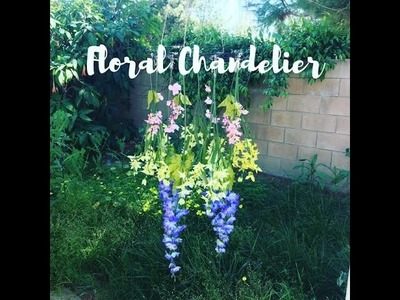 Dollar Tree DIY | Floral Chandelier