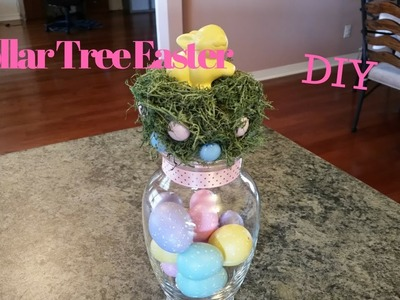 Dollar Tree Easter Glass DIY
