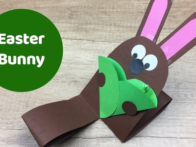 Easter bunny with pocket for treat, easy DIY for kids.