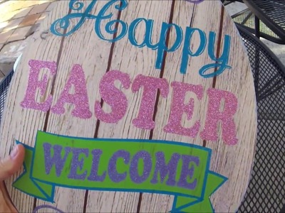 Easter DIY with Egg from the Dollar Tree!
