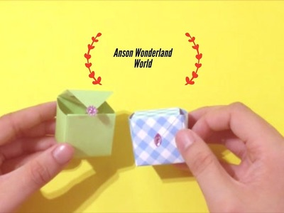 Easy Origami how to Make Cube Box 简单手工折纸  立方体盒子.簡単折り紙 キューブボックスです