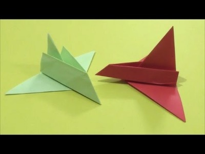 Easy Origami How to Make Paper Aeroplane 简单手工折纸 纸飞机 簡単折り紙 紙飛行機です