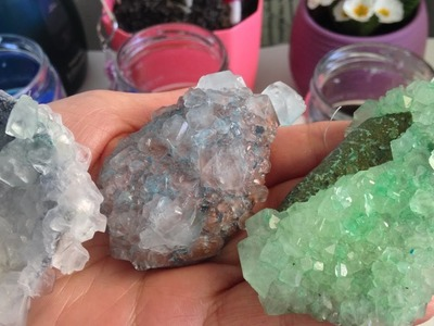 FUN DIY PROJECTS-HOMEMADE CRYSTALS WITH BORAX-(EGLENCELİ HOBİLER-BORAKS KRİSTALİ NASIL YAPILIR)