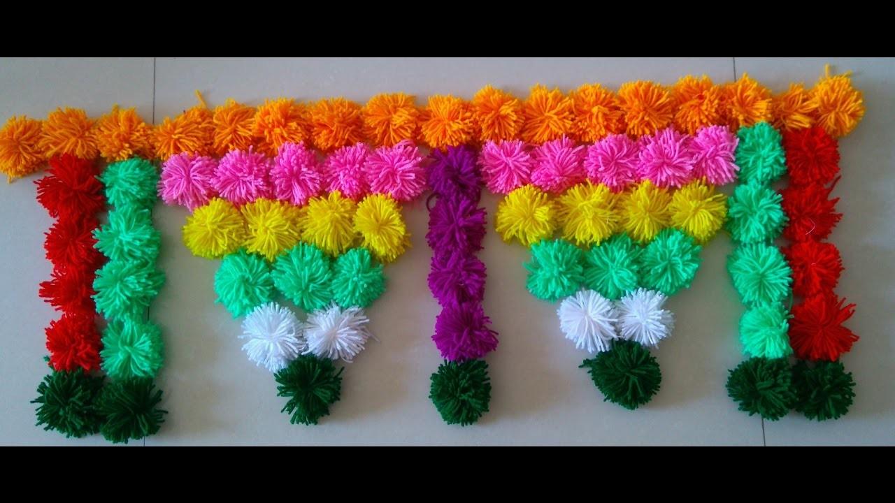 Handmade toran    DIY Innovative & beautiful  Woolen Toran   Door Hanging Toran Part -3